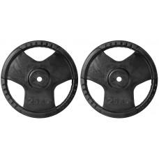 Rubber Grip Regular (28mm) Plates 2X25.0KG