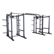 Body-Solid Commercial Double Extended Power Rack Package (SPR1000DBBack)